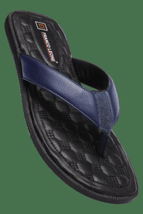 FRANCO LEONEMens Blue Slipon Slipper