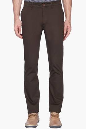 WILLS LIFESTYLE Mens 4 Pocket Solid Trousers