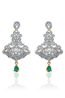 ZAVERI PEARLS Brass Drop Earring - ZPFK827