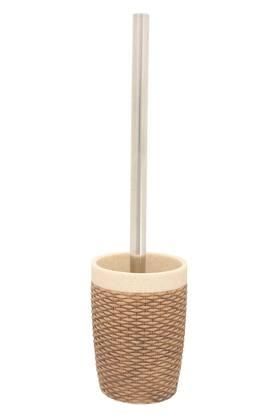 Conical Woven Toilet Brush with Holder