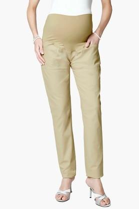 NINE MATERNITY Womens 4 Pocket Solid Trousers