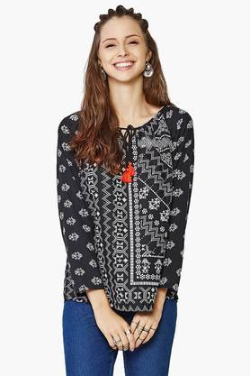 GLOBAL DESI Womens Printed Top