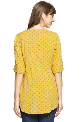 Womens Mandarin Collar Embroidered Tunic