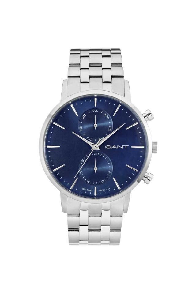 Mens Blue Dial Metallic Multi-Function Watch - W11206