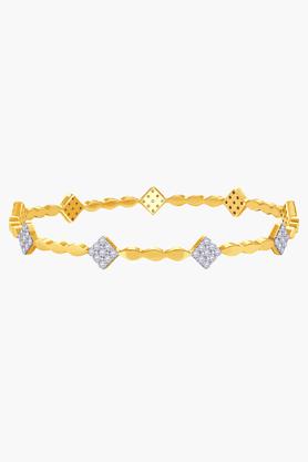 MALABAR GOLD AND DIAMONDSWomens 18 KT Gold And Diamond Bangle - 201203471