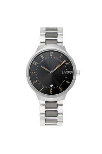 Mens Grenen Grey Dial Stainless Steel Analogue Watch - SKW6523