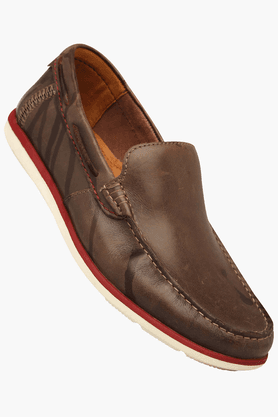 Mens Casual Leather Slipon Loafer