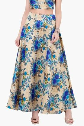 INDYA Womens Printed Maxi Skirt - 201845627