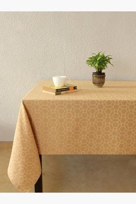 Jharokha Jaali 100% Cotton Table Cover - Beige - 202274711