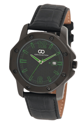 Black Dial Green Index Mens Watch - G1004-05