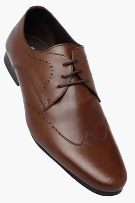 FRANCO LEONE Mens Leather Lace Up Derbys