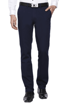 Mens Slim Fit Solid Formal Trouser