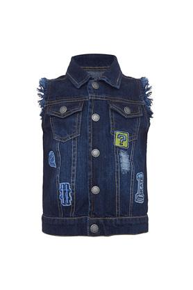 Boys Distressed Casual Jacket