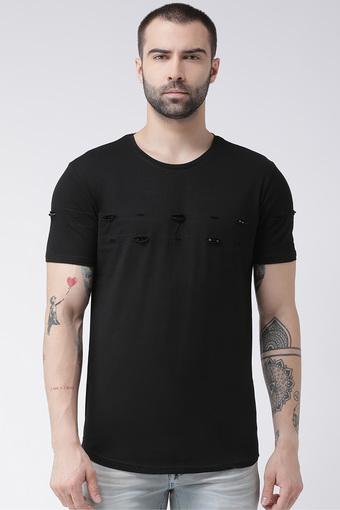 REX STRAUT JEANS -  BlackT-shirts - Main