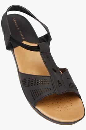 LEMON & PEPPER Womens Casual Wear Slipon Flat Sandals