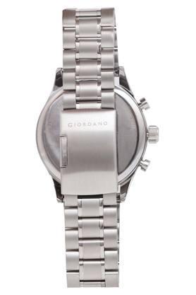 Mens White Dial Multi-Function Metallic Watch - GD-1028-11