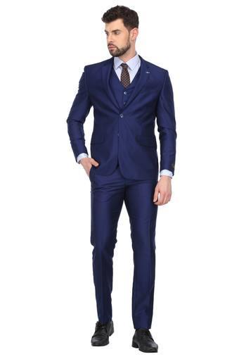 Mens Notched Lapel Printed 3 Piece Suit