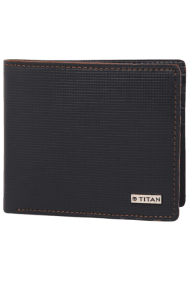 TITANMens 1 Fold Leather Wallet