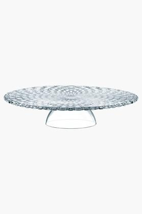 Crystal Chip & Dip-cum-Cake Platter- 32 Cms