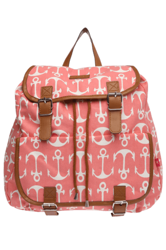 Womens Anchor Print Backpack