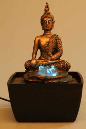 Mini Buddha With Color Light