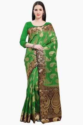Women Poly Silk All Over Mango Buti Saree