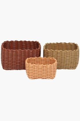 IVY Pvc Square Basket (Set Of 3)