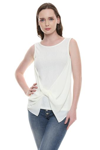 VERO MODA -  Off White Tops & Tees - Main