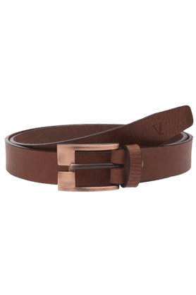 VAN HEUSEN Mens Brown Leather Formal Belt