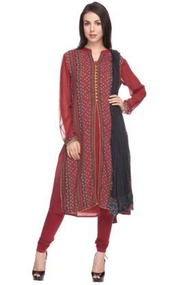 IMARA Womens Printed Churidar Set - 200732828