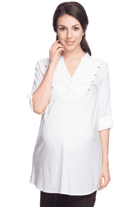 NINE MATERNITY Womens Regular Fit Solid Top - 201346630