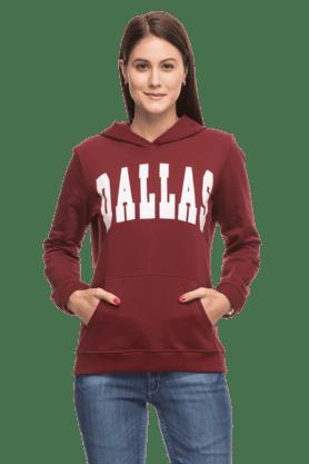 LIFEPrinted Sweatshirt With Hood - 200422828