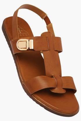 FEMINA FLAUNTWomens Daily Wear Ankle Button Closure Flat Sandal - 202124826