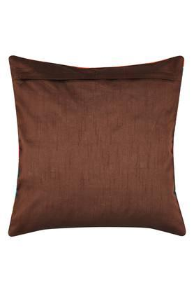 Square Stripe Embroidered Cushion Cover