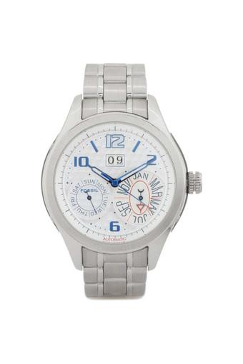 Mens White Dial Stainless Steel Multi-Function Watch - ME1029
