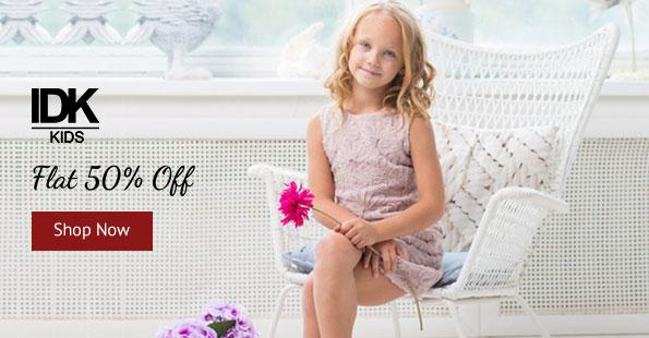 Shoppersstop: IDK kids apperal flat 50% off