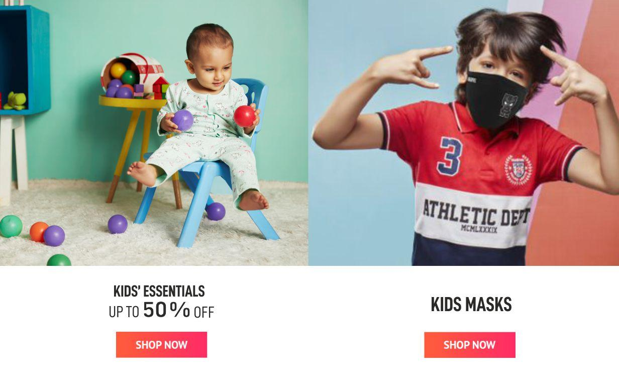 Kids essentials And Mask