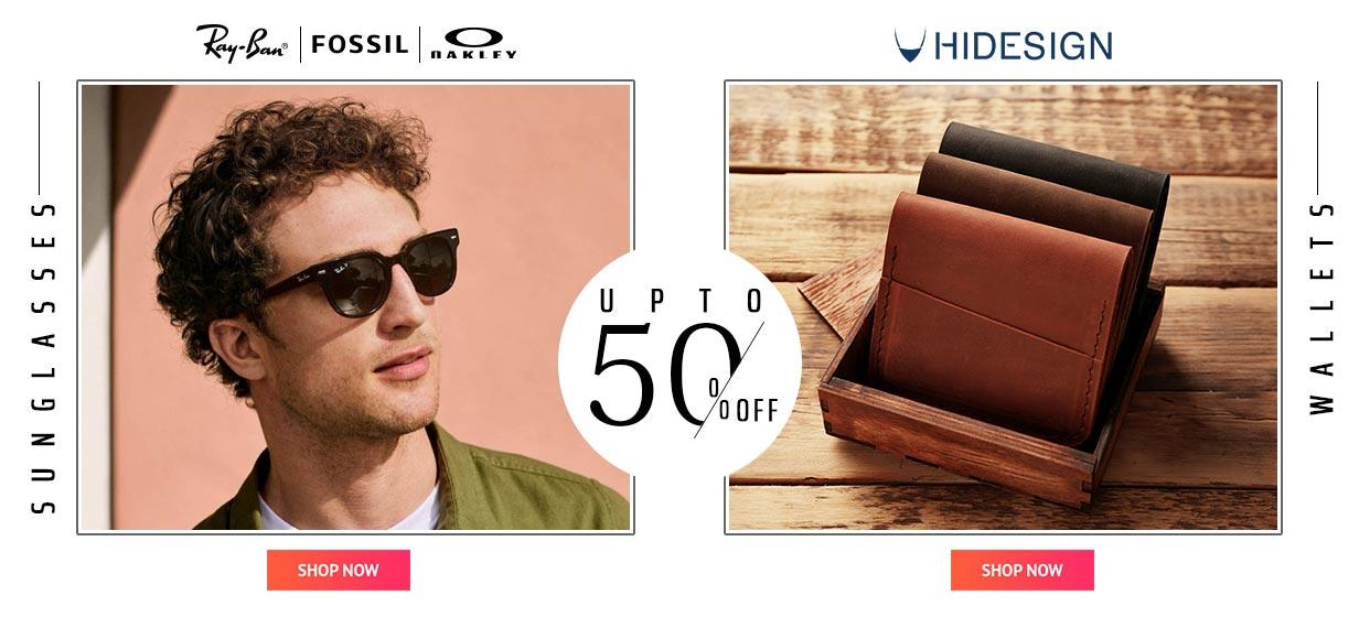sunglasses and wallets offer