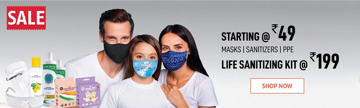 MASKS  PPE & SANITIZERS