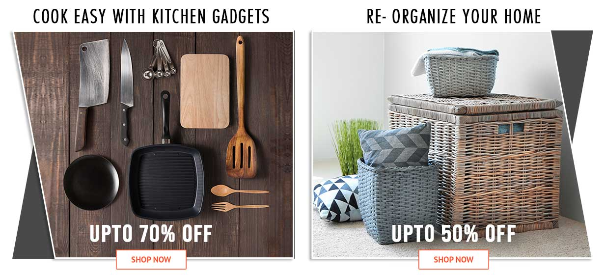 Cook easy with kitchen gadgets & Re- organize your Hom