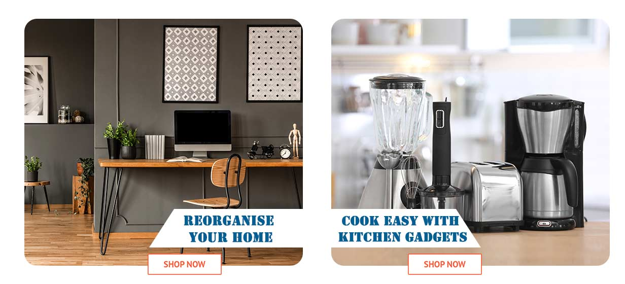 Cook easy with kitchen gadgets & reorganise your home