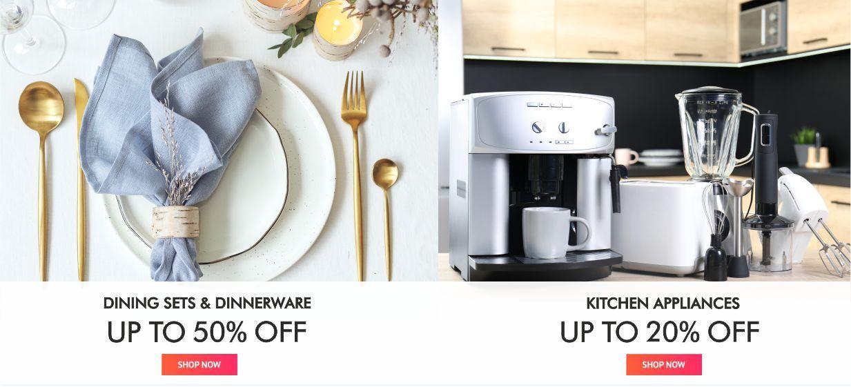 Dinner sets & loose dinnerware &Kitchen appliances