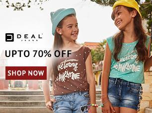 Image result for Shoppersstop Offer : Get upto 70% off on Kids Jeans